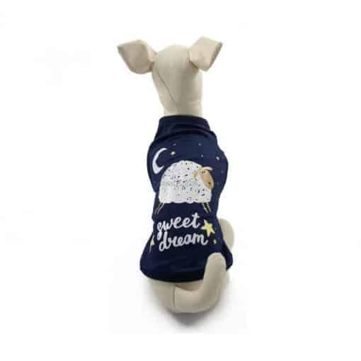 ALT camiseta azul oscura para perros pequeños marca miniatural modelo sweat dream