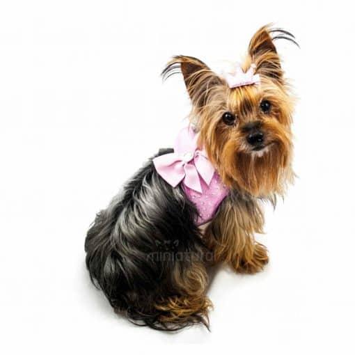 alt arnes perro brillantes rosa