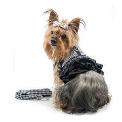 ALT arnes para perros pequeños vestido negro y blanco