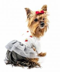 ALT ropa para perros pequeños Vestido blanco para yorkshire