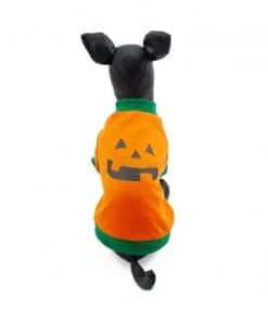 Ropa Halloween para perro sudadera naranja calabaza