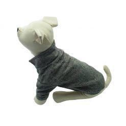 Abrigo Gris Elegante  perros pequeños Dos Botones Ropa Perros Invierno Otoño (4)
