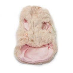 Abrigo Pelo Rosa Lazo Perlas Ropa Perros Invierno 03