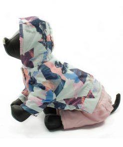 Abrigo Perro Nieve Forro Borrego Rosa Capucha Estampado Ropa Perros Invierno (2)
