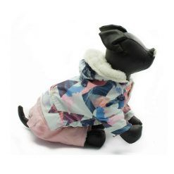 Abrigo Perro Nieve Forro Borrego Rosa Capucha Estampado Ropa Perros Invierno (3)