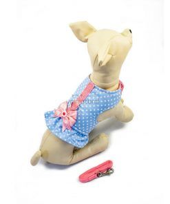 ALT arnes azul acolchado para perros con forma de vestido para perritas