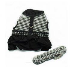 Arnes Vestido Pata Gallo Negro Blanco Lujo (1)