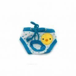 Bragas Perra Underwear Azul Blanca Lunares Patito Amarillo Ropa Perros (2)