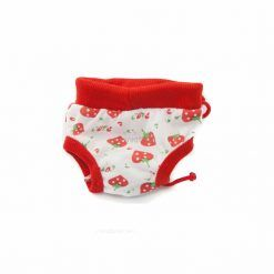 Bragas Perra Underwear Blanca Fresas Rojas Cordones Rojos Ropa Perros (2)