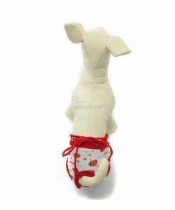 Bragas Perra Underwear Blanca Fresas Rojas Cordones Rojos Ropa Perros (4)
