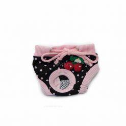 Bragas Perra Underwear Rosa Negra Lunares Cerezas Ropa Perros (2)