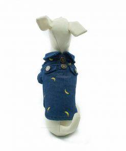 Camisa Vaquera Estampado Bananas Ropa Perros Primavera (2)