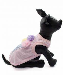 camiseta rosa perros