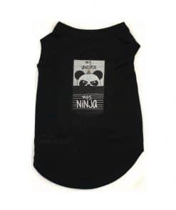 ALT camiseta negra para perros pequeños