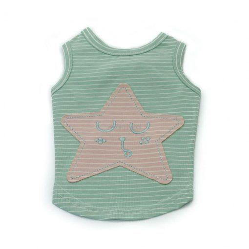 Camiseta Perro Azul Estrella Rosa Ropa Perros Verano