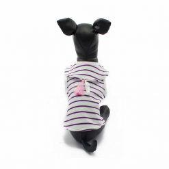 Camiseta Perro Blanca Rayas Morado Borlas Rosa Blanco Ropa Perros Verano (3)