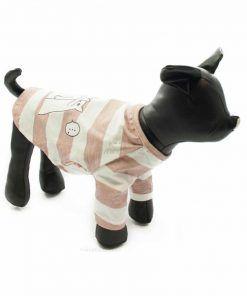 Camiseta Perro Rayas Rosa Blanco Ropa Perros Verano Gatos Sorpresa (1)