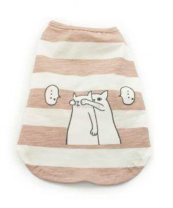 Camiseta Perro Rayas Rosa Blanco Ropa Perros Verano Gatos Sorpresa (2)