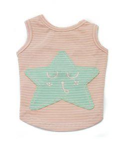 Camiseta Perro Rosa Estrella Azul Ropa Perros Verano
