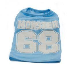 Camiseta Perros Azul Futbol Americano Letras Blancas Ropa Perros Verano (2)