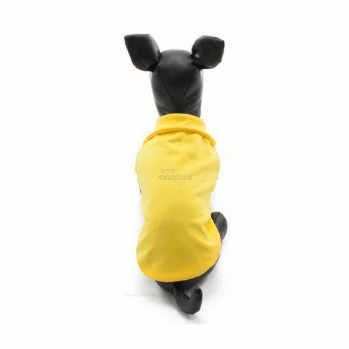 Camiseta Perros Polo Amarillo Cuello Botones Blancos Ropa Perros Verano Primavera (2)