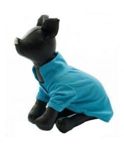 Camiseta Perros Polo Azul Cuello Botones Blancos Ropa Perros Verano Primavera (2)