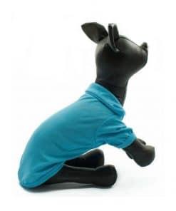 Camiseta Perros Polo Azul Cuello Botones Blancos Ropa Perros Verano Primavera (4)