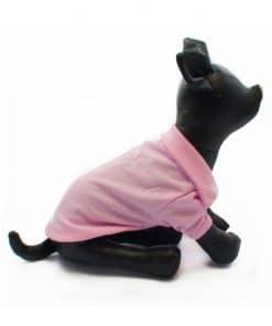 Camiseta Perros Polo Rosa Cuello Botones Blancos Ropa Perros Verano Primavera (2)