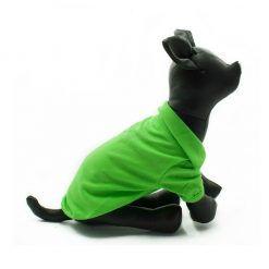 Camiseta Perros Polo Verde Cuello Botones Blancos Ropa Perros Verano Primavera (1)