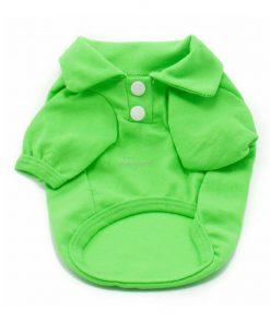 Camiseta Perros Polo Verde Cuello Botones Blancos Ropa Perros Verano Primavera (2)