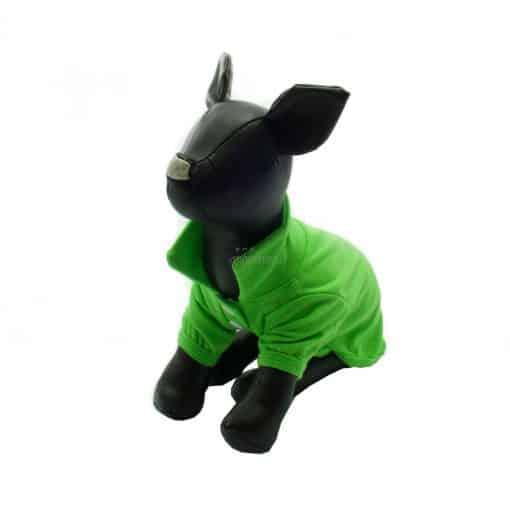 Camiseta Perros Polo Verde Cuello Botones Blancos Ropa Perros Verano Primavera (3)