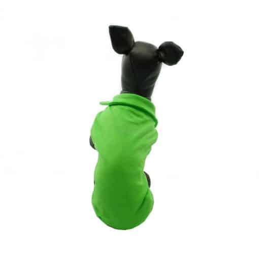 Camiseta Perros Polo Verde Cuello Botones Blancos Ropa Perros Verano Primavera (4)