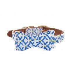 collar para perros pequeños piel sintetica azul