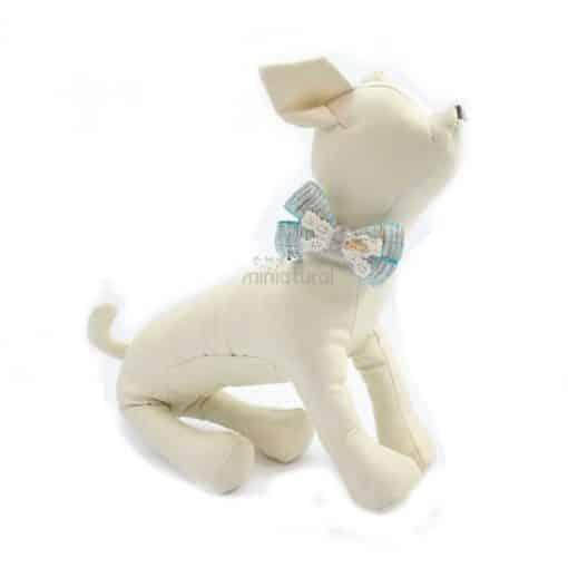 collar con cascabel para perros azul