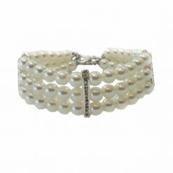 collar perlas blancas perros pequeños