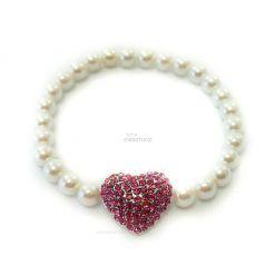 Collar Perlas Perro Corazon.rojo Piedras Lujo