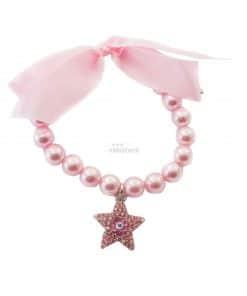 collar para perros rosa de perlas con estrella