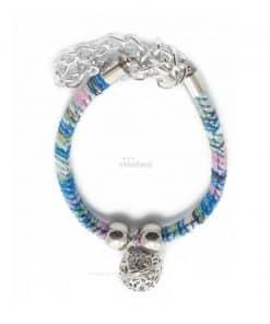 Collar Perro Esfera Metalica Pequeña Colores Azules