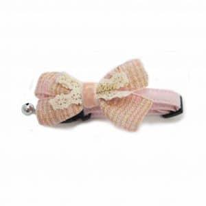 collar con cascabel para perros rosa