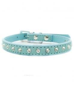 Collar Perro Lujo Brillantes Azul Claro (2)
