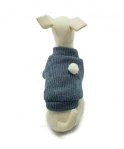 Jersey Cuello Alto Perro Azul Punto Pompon Estrella Rosa (1)