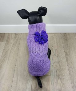ALT jersey morado para perros pequeños con lazo morado en la espalda