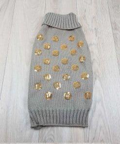ALT jersey para perros pequeños marron monedas brillantes