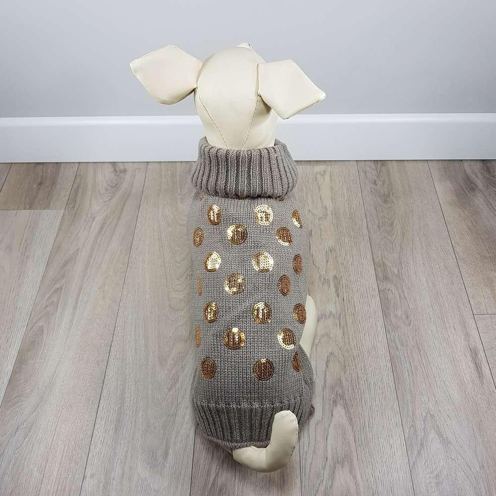 ALT jersey para perros pequeños con monedas doradas