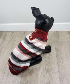 ALT jersey rayas para perros pequeños rosa rojo blanco negro