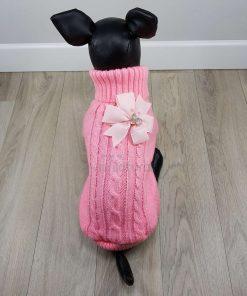 ALT sueter rosa con flor rosa claro en la espalda