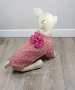 ALT sueter rosa para perros pequeños jersey de punto para perritas