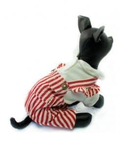 Mono Peto Rayas Rojo Blanco Polo Blanco Ropa Perros Primavera (1)