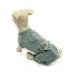 Mono Vaquero Botones Azul Cordon Blanco Ropa Perros Primavera (4)
