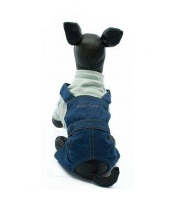 Mono Vaquero Camiseta Punto Azul Rayas Ropa Perros Primavera (3)